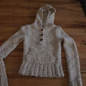 Abercrombie and Fitch sweater with hoodie, small